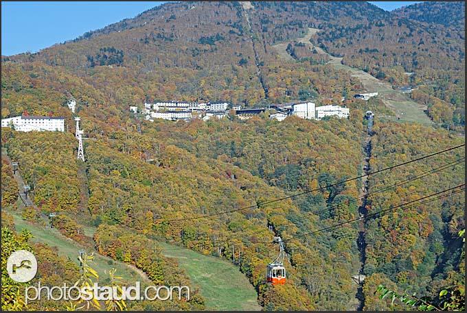 Summer lift to Mount Higashi Tateyama, Shiga Kogen Heights, Joshin-etsu National Park, Japan