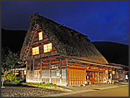 Traditional rural houses in Shirakawa village, UNESCO World Heritage site, Japan