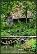 Gassho zukuri rural house, hands in prayer, Shirakawa village, UNESCO World Heritage site, Japan