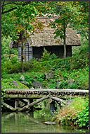 Historical water mill in open-air museum of Shirakawa village, UNESCO World Heritage site, Japan
