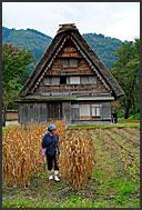 Detail of gassho zukuri rural house, Shirakawa village, UNESCO World Heritage site, Japan