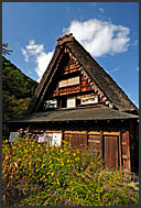 Gassho zukuri rural house, Shirakawa village, UNESCO World Heritage site, Japan