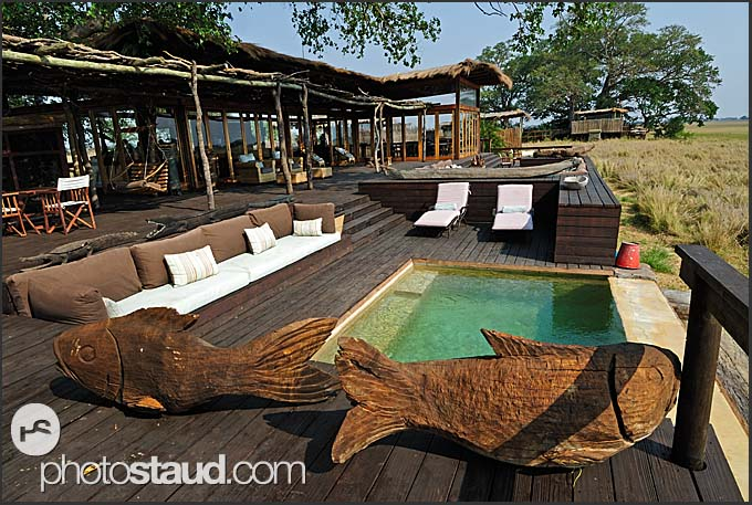 Swimming pool in Shumba Camp, Wilderness Safaris, Kafue National Park, Zambia
