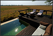 Swimming pool in Shumba Camp, Wilderness Safaris, Kafue National Park, Zambia