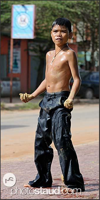 Street fighter in Siem Reap, Cambodia