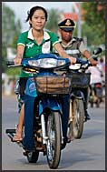 Back from shopping, Siem Reap, Cambodia