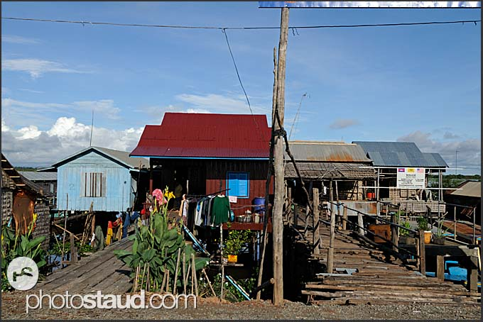 Fisherman cottages in the suburb of Siem Reap, Cambodia