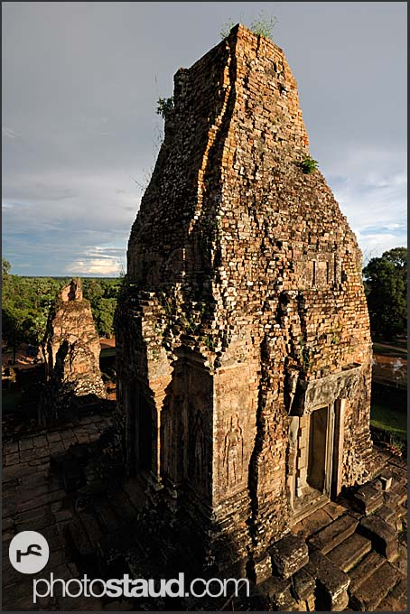 Derelict stone towers of Ta Keo Temple, Angkor, Cambodia