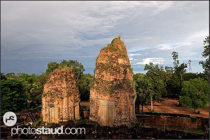 Stone towers at Ta Keo Temple ruins, Angkor, Cambodia