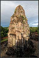 Stone tower at Ta Keo Temple ruins, Angkor, Cambodia
