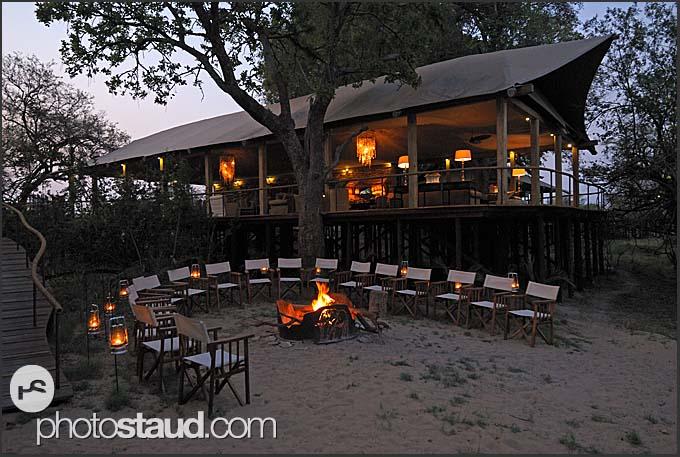 Fireplace in Toka Leya Camp, Mosi-oa-Tunya National Park, Zambia