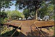 Wooden walkways in Toka Leya Camp, Mosi-oa-Tunya Park, Zambia