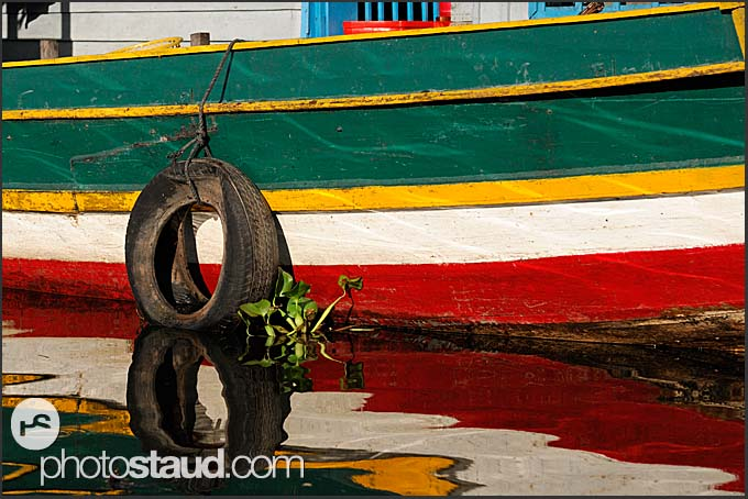 Details from floating village on Tonle Sap Lake, Cambodia