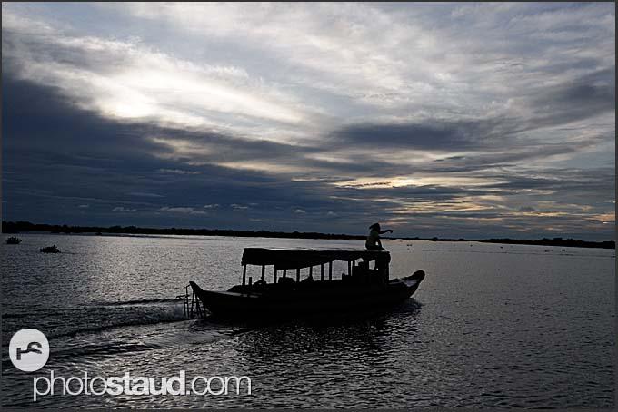 Evening on Tonle Sap Lake, Cambodia