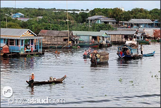 Floating village on Tonle Sap Lake, Cambodia