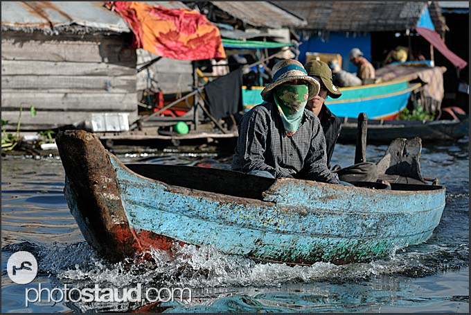 People of floating village, Tonle Sap Lake, Cambodia