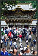 Japanese schoolchildren flooding Tosho-gu Shrine, Nikko, Japan