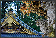 Crowds of Japanese tourist flooding Tosho-gu Shrine, Nikko, Japan