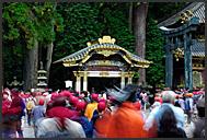 Japanese tourist flooding Tosho-gu Shrine, Nikko, Japan