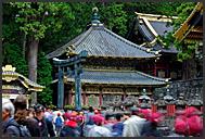 Japanese tourist flooding Toshogu Shrine, Nikko, Japan
