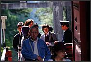 Japanese tourists flooding Tosho-gu Shrine, Nikko, Japan