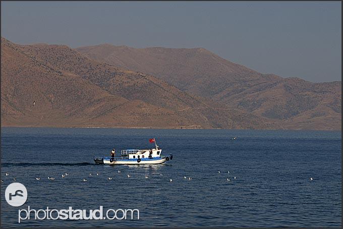 Boat on Lake Van, Turkey