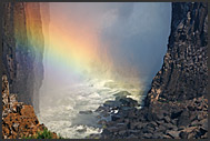 Rainbow at Victoria Falls, Zambia