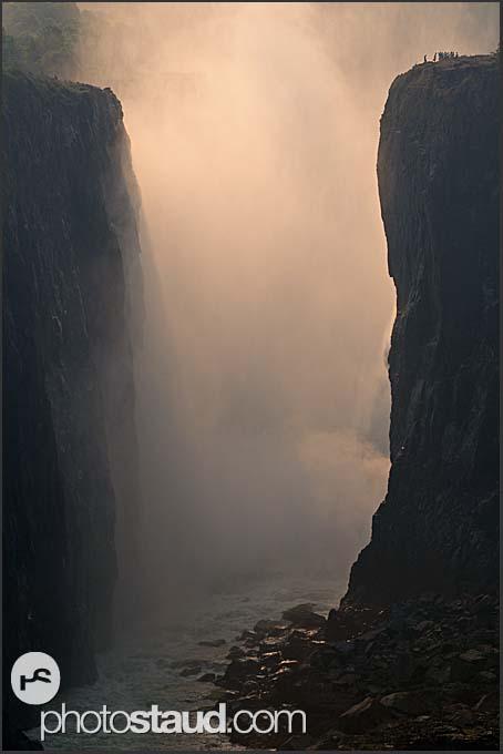 Victoria Falls at sunset, Zambia