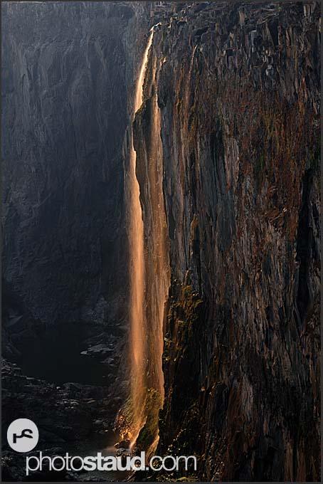 Evening landscape at Victoria Falls, Zambia