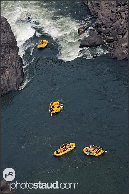 Rafting on the Zambezi River, Zambia