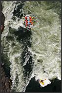White water rafting on the Zambezi River, Zambia