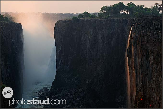 Evening landscape of Victoria Falls, Zambia