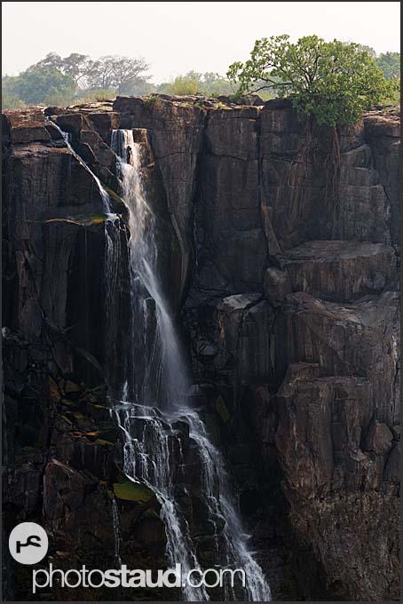 Victoria Falls during dry season, Zambia