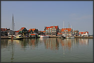 Volendam harbor, Holland, Europe