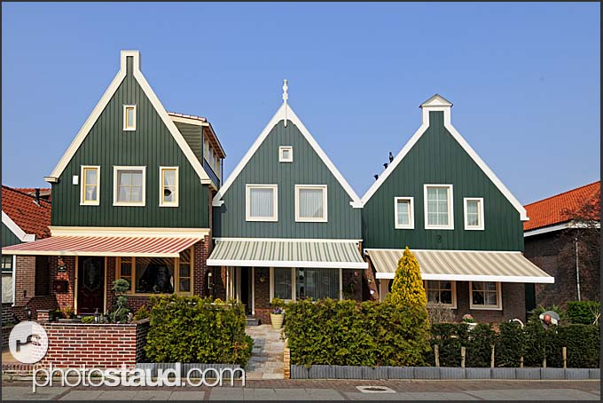 Houses in Volendam, Holland, Europe