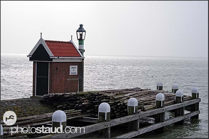 Volendam harbor, Holland, Europe