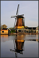 Traditional Dutch windmill at Vecht river, Vreeland, The Netherlands, Europe