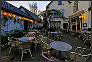 Empty chairs and tables at Vreeland restaurant, The Netherlands, Europe