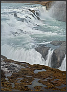 Landscape of Iceland, Gullfoss waterfall, Iceland