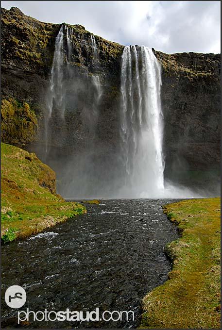 Landscape of Iceland, Seljalandsfoss waterfall, Iceland