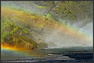 Landscape of Iceland, Skogafoss waterfall, Iceland