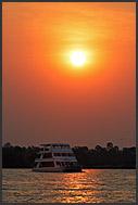 Sunset at Zambezi River, Mosi-oa-Tunya National Park, Zambia