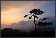 Sunrise in the Yellow Mountains, Huangshan, Anhui, China