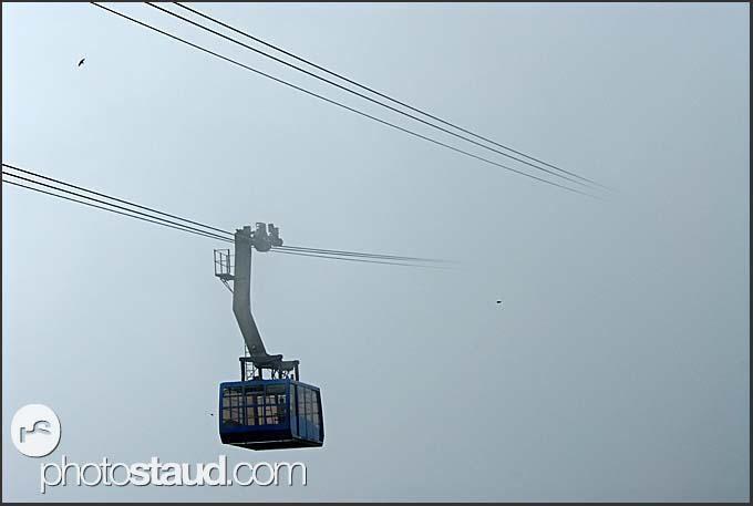 Gondola to nowhere, Yellow Mountains, Huangshan, Anhui, China
