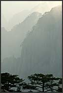 Misty landscape of the Yellow Mountains, Huangshan, Anhui, China