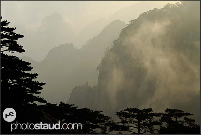 Dreamy landscape of the Yellow Mountains, Huangshan, Anhui, China