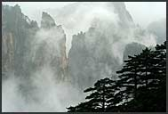 Foggy landscape of the Yellow Mountains, Huangshan, Anhui, China