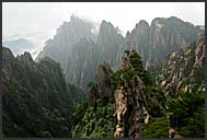 Rugged cliffs of the Yellow Mountains, Huangshan, Anhui, China