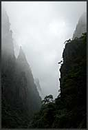 Fantasy landscape of the Yellow Mountains, Huangshan, Anhui, China