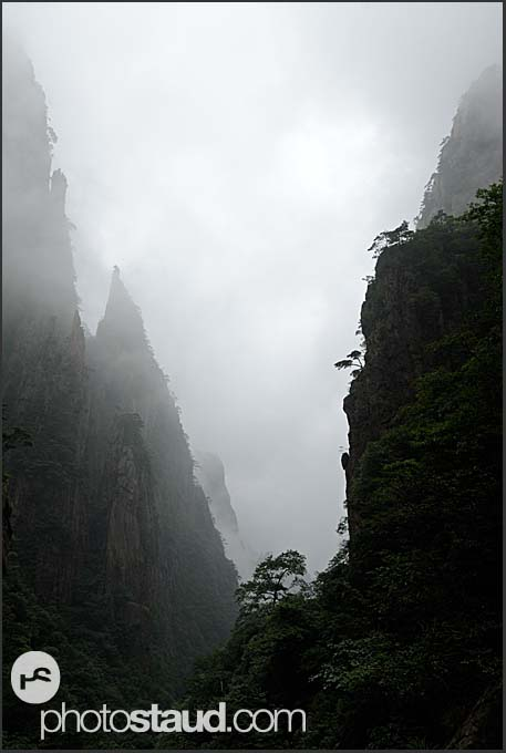 Steep gorges of the Yellow Mountains, Huangshan, Anhui, China